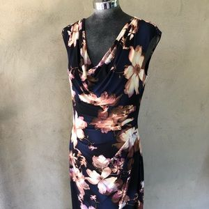 Lauren by Ralph Lauren navy floral dress Sz 10